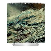 A Wave Shower Curtain