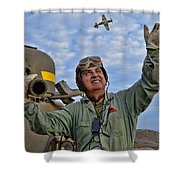 A Wave To A Friend Shower Curtain