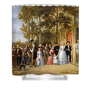 A Wedding At The Coeur Volant Shower Curtain