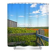 A West Pentire Farm Shower Curtain