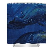 A Whale Of A Tail Shower Curtain