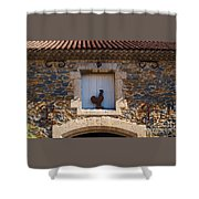 A Whimsical Wall In Lezignan, France Shower Curtain