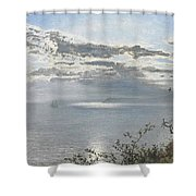 A White Calm After Thunder Showers Shower Curtain
