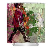 A White Rose For A Ballerina Shower Curtain