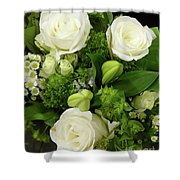 A White Roses Bouquet For You Shower Curtain