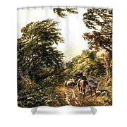 A Windy Day Shower Curtain