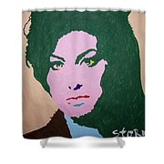 A J Winehouse Shower Curtain