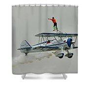 A Wing And A Prayer Shower Curtain