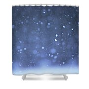 A Snowy Afternoon Shower Curtain