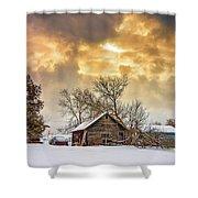 A Winter Eve Shower Curtain