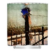 A Winter Sea Gull Portland Maine Shower Curtain