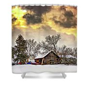 A Winter Sky Shower Curtain