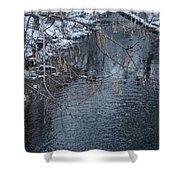 A Winter Swim Shower Curtain