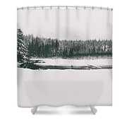 A Winter Whiteout Shower Curtain