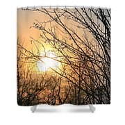 A Winter's Day After Glow Shower Curtain