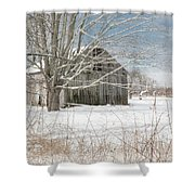 A Winters Day Square Shower Curtain