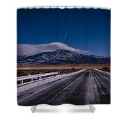 A Winters Meteor Shower Curtain