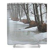 A Winter's Scene Shower Curtain