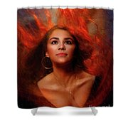 A Wistful Look Up Warded  Shower Curtain