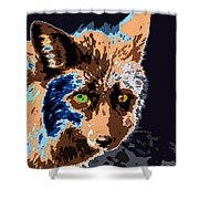 A Wolf Staring Shower Curtain