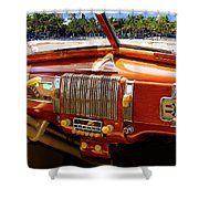 A Woodie At The Beach Shower Curtain