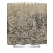A Woodland Pond Shower Curtain