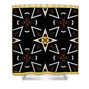 A World Of Abstract Shower Curtain