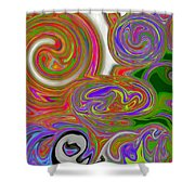 A World Of Lollipops Shower Curtain