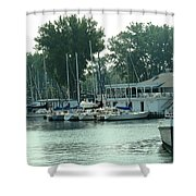 A Yacht Club Shower Curtain
