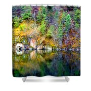 A Yellow Lake Calm Shower Curtain