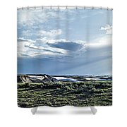 A Yellowstone Np Mesa Shower Curtain