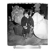A Young Evacuee Of Japanese Ancestry Shower Curtain by Stocktrek Images