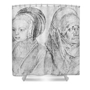 A Young Girl Of Cologne And Dbcrer Wife 1520 Shower Curtain