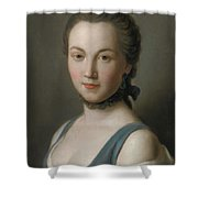 A Young Lady Shower Curtain