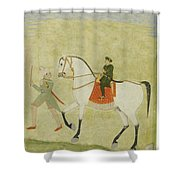 A Young Prince On Horseback Shower Curtain