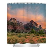 A Zion Sunset Shower Curtain