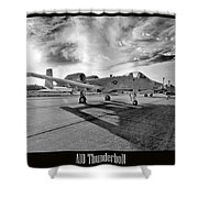 A10 Thunderbolt Shower Curtain
