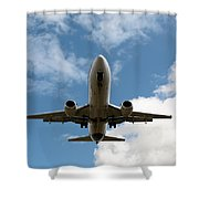 B737 Landing Shower Curtain