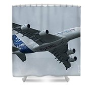 A380 Airbus In Flight Shower Curtain