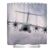 A400m Airbus Cloud Shower Curtain