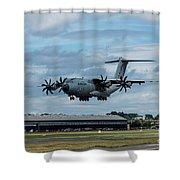 A400m Plane Lands Shower Curtain