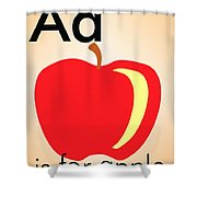 Aa Is For Apple Shower Curtain