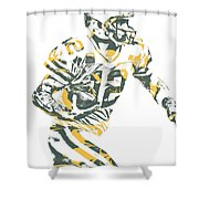 Aaron Rodgers Green Bay Packers Pixel Art 22 Shower Curtain