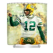 Aaron Rodgers Shower Curtain