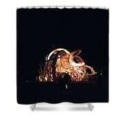 Ab Artwork At Night Shower Curtain