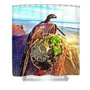 Abalone On Saddle Shower Curtain