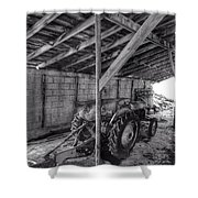 Abanded Tractor 5 Shower Curtain