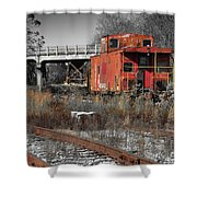 Abandon Caboose Shower Curtain