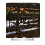 Abandon Dock Shower Curtain