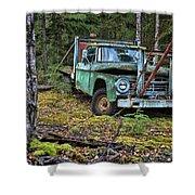 Abandoned Alaskan Logging Truck Shower Curtain